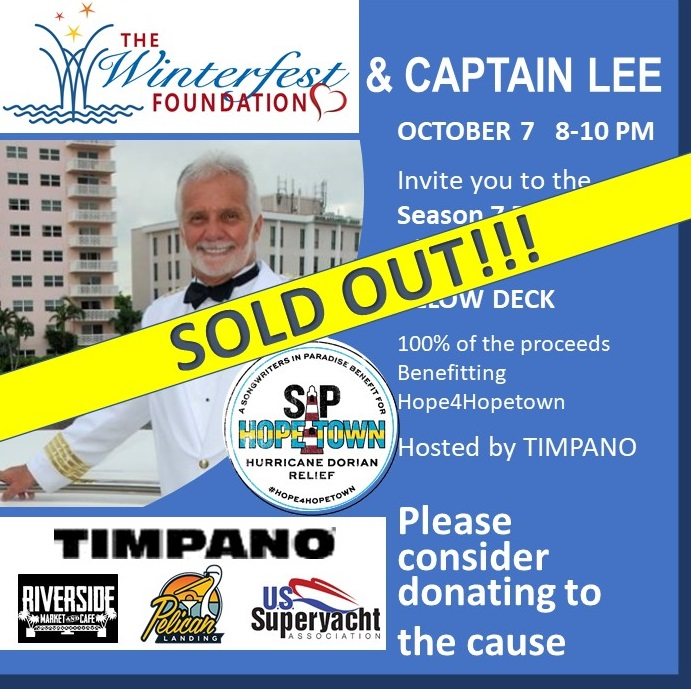 Captain Lee benefiting Hope4Hopetown Event Poster