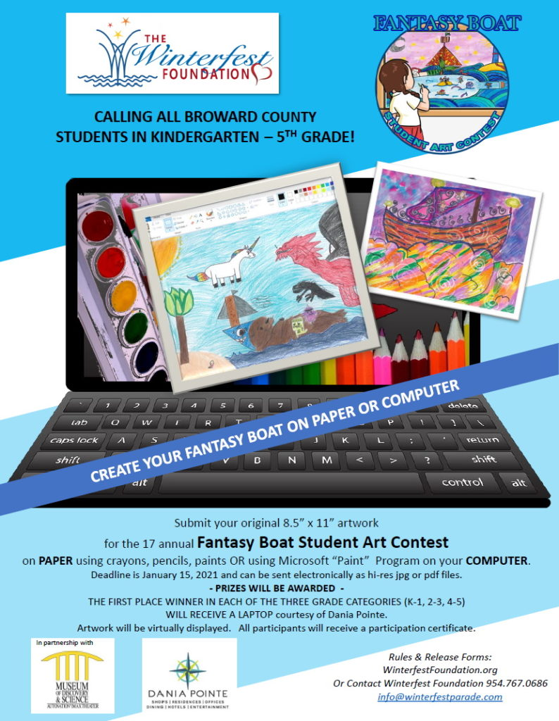 2020-2021 Winterfest Foundation Student Art Competition Flyer