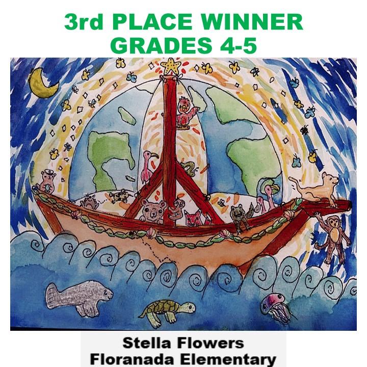 Stella Flowers, 3rd Place Winner Grades 4-5