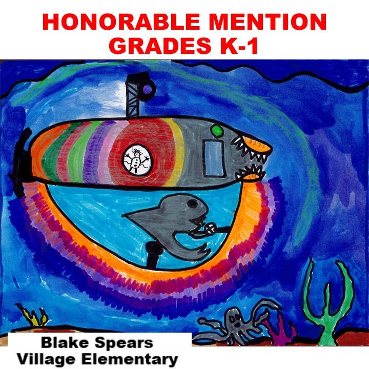 Blake Spears, Honorable Mention Grades K-1