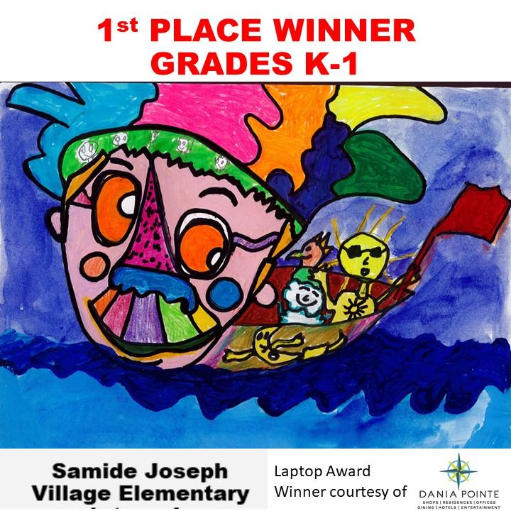 Samide Joseph, 1st Place Winner Grades K-1