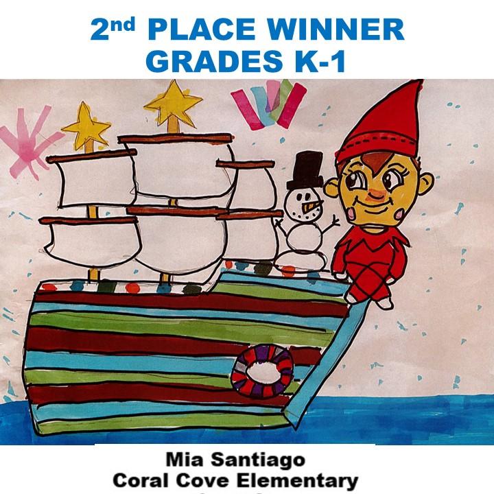 Mia Santiago, 2nd Place Winner Grades K-1