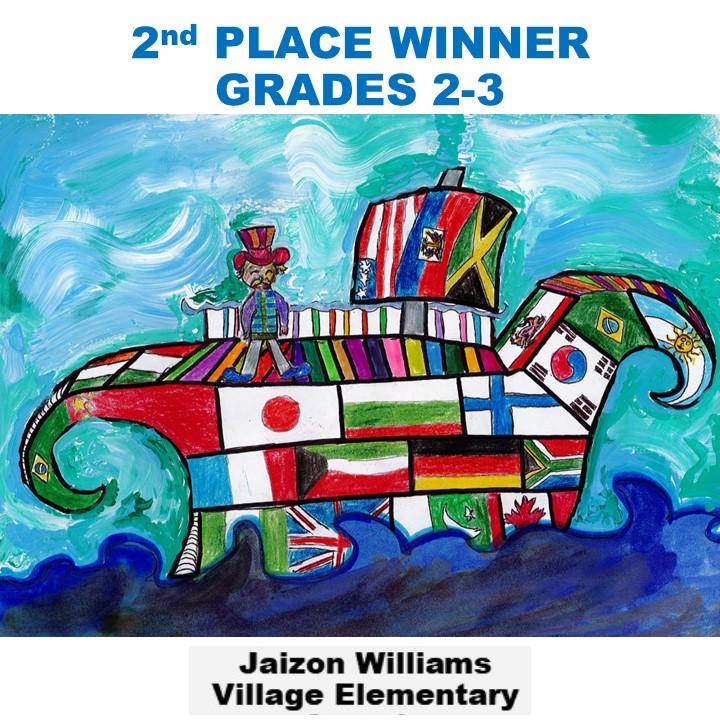 Jaizon Williams, 2nd Place Winner Grades 2-3