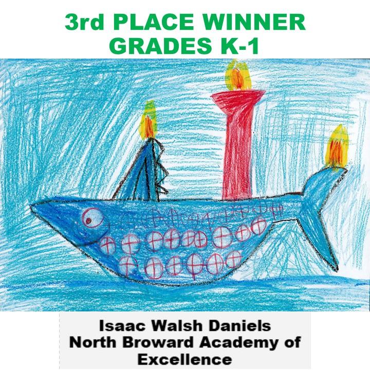 Isaac Walsh Daniels, 3rd Place Winner Grades K-1